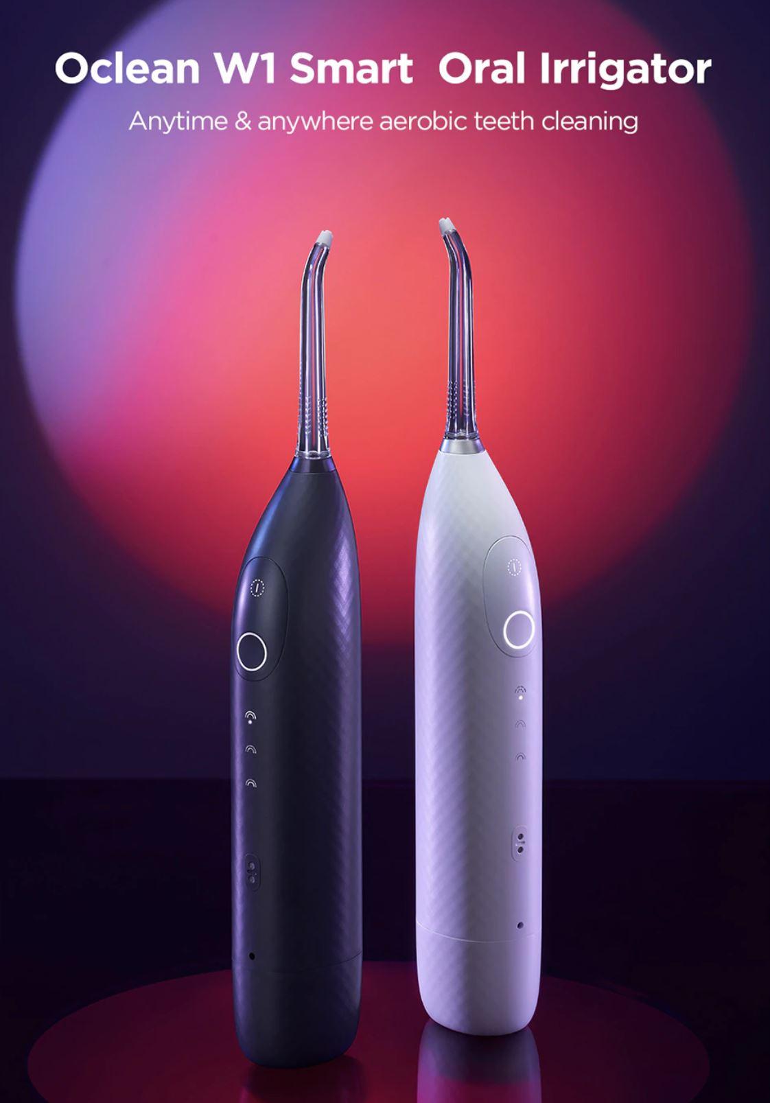 Szczoteczki soniczne z Aliexpress - irygator do zębów Oclean W1
