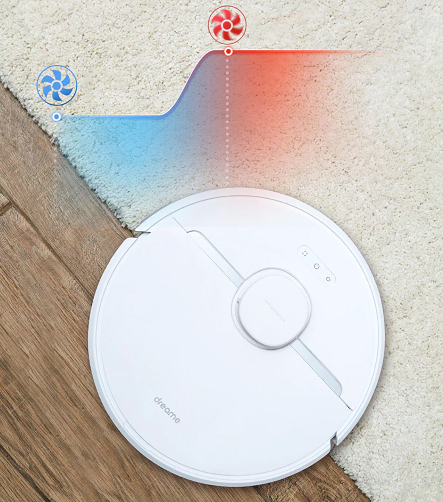 Dreame D9 - zwiększa siłę ssącą na dywanach