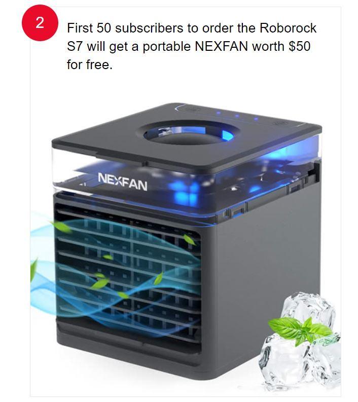Premiera Roborocka S7 - wentylator chłodzący gratis