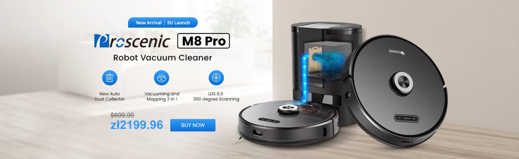 Promocja Proscenic M8 Pro - robot ze stacją na kurz w super cenie