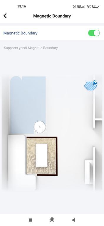 Yeedi K650 - recenzja taniego robota sprzątającego z Aliexpress - taśma magnetyczna - wirtualna ściana