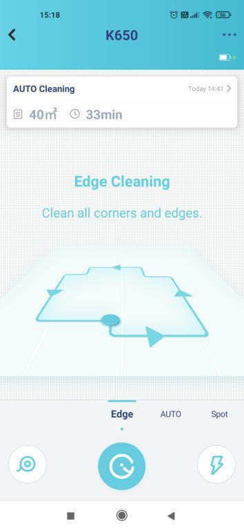 Yeedi K650 - recenzja taniego robota sprzątającego z Aliexpress - tryb edge