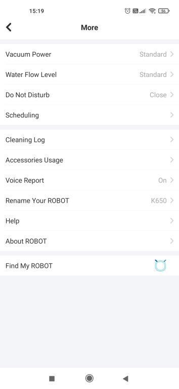 Yeedi K650 - recenzja taniego robota sprzątającego z Aliexpress - ustawienia