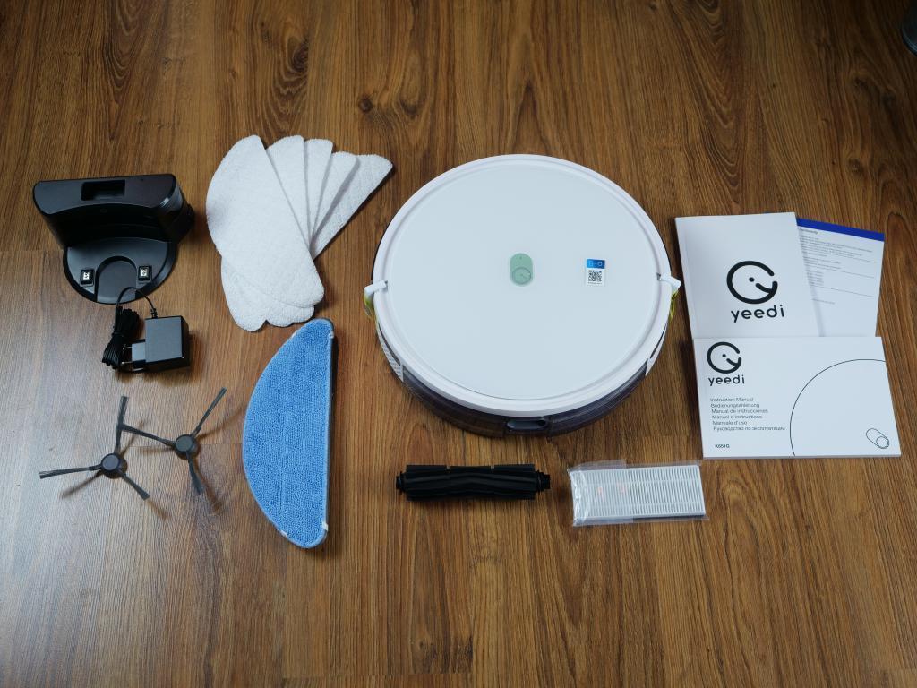 Yeedi K650 - recenzja taniego robota sprzątającego z Aliexpress - zestaw