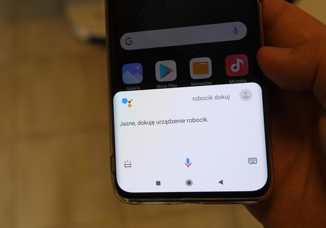 obsługa robota Yeedi K650 za pomocą asystenta Google