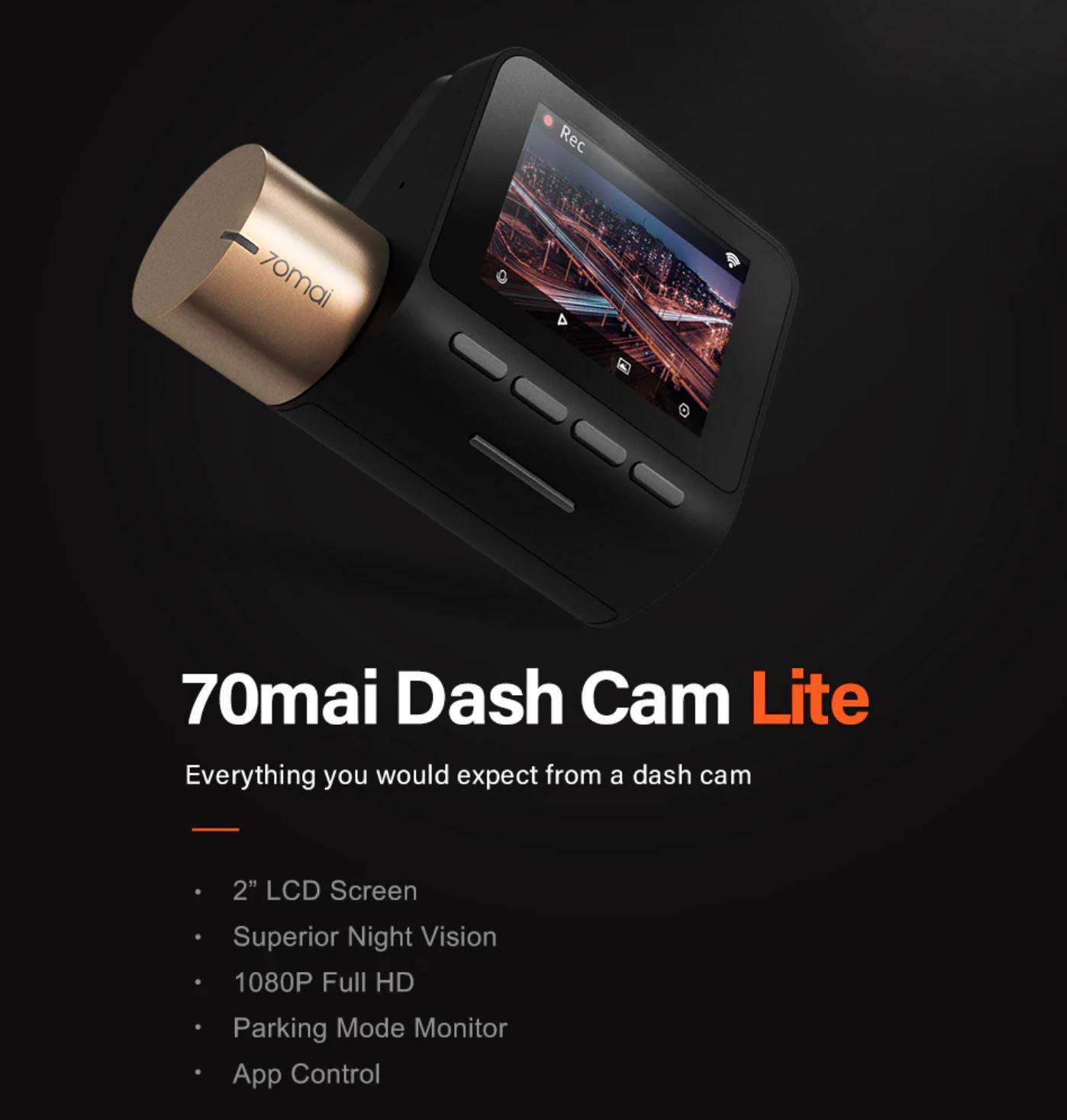Akcesoria samochodowe z Aliexpress - kamera 70mai Dash Cam Lite