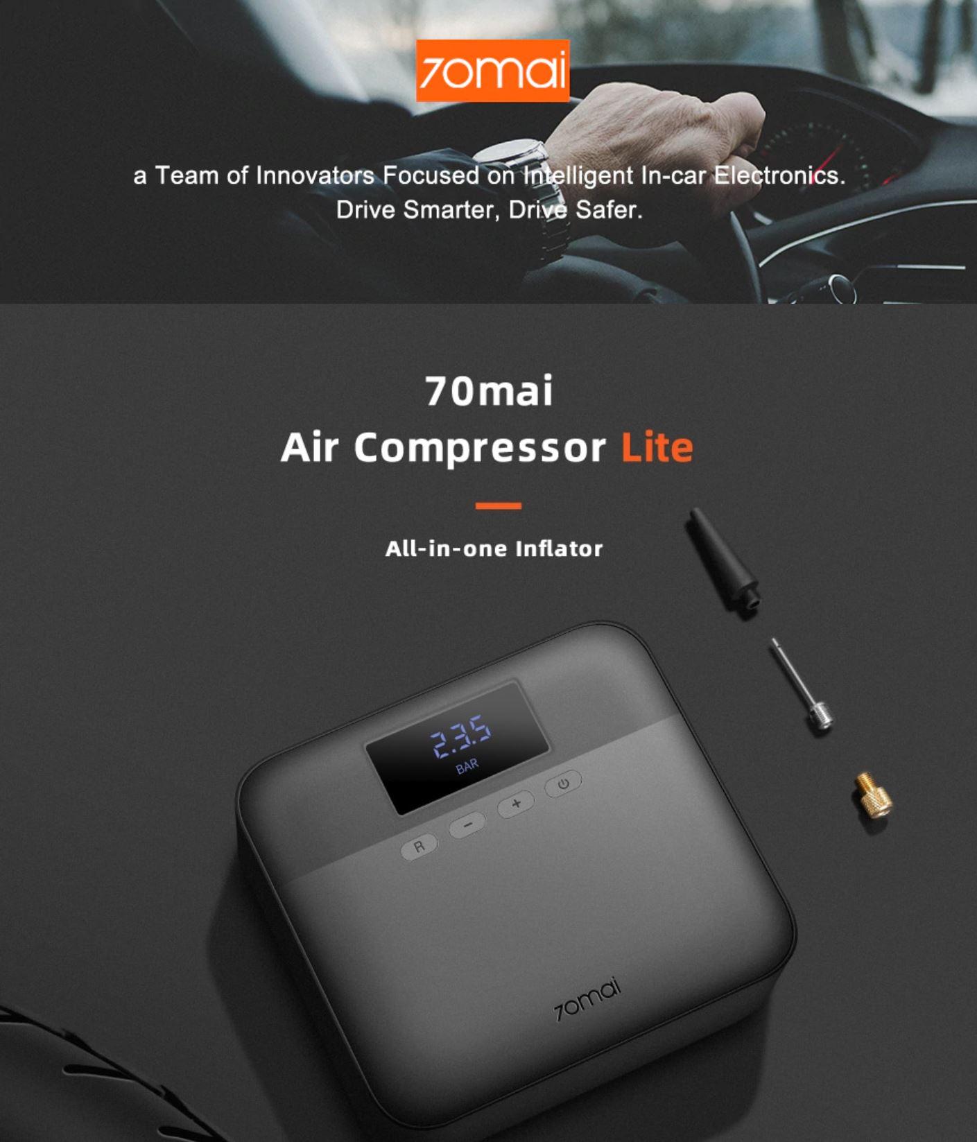 Akcesoria samochodowe z Aliexpress - kompresor 70mai