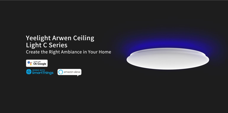 Inteligentne plafony sufitowe Yeelight w promocji Aliexpress - lampy sterowane przez asystenty głosowe