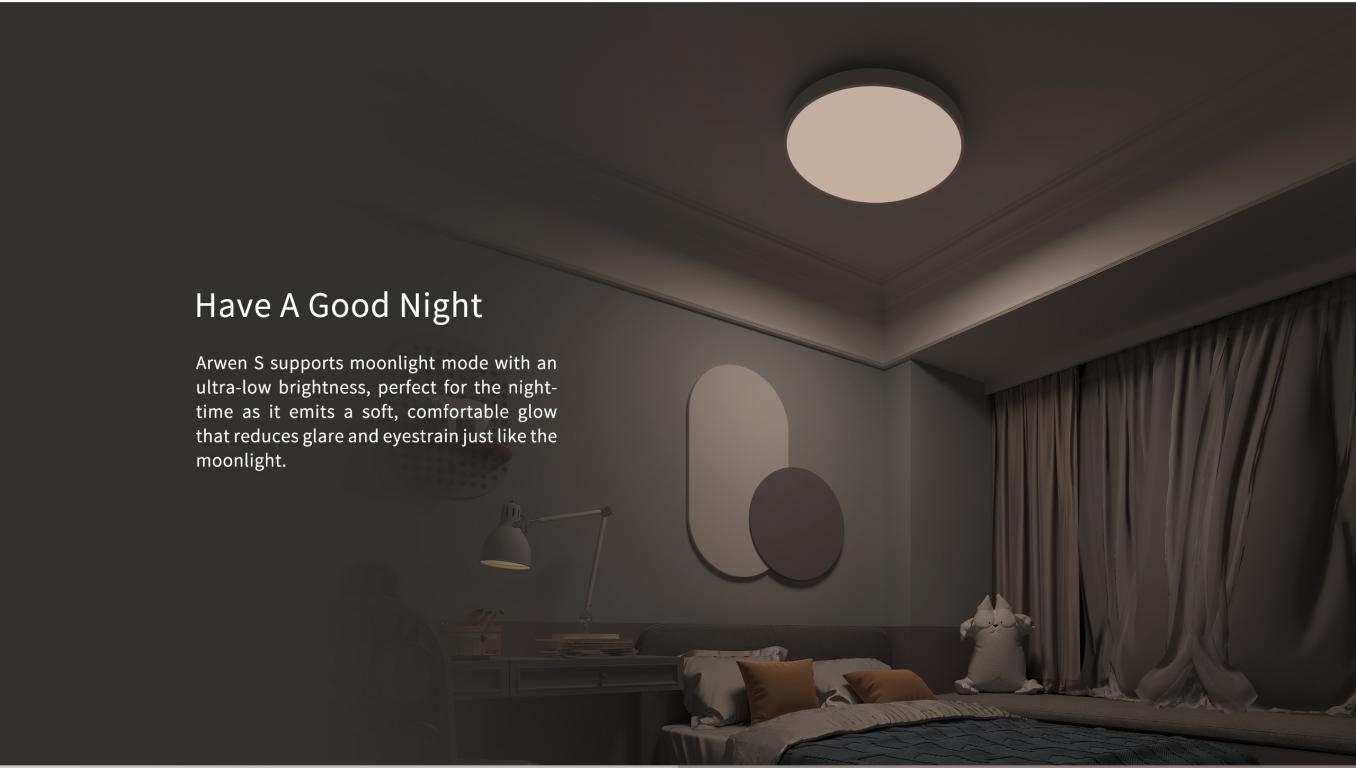 Inteligentne plafony sufitowe Yeelight w promocji Aliexpress - łatwo ściemniane