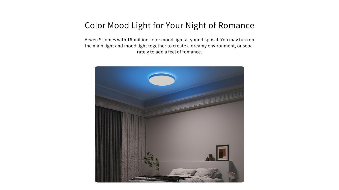 Inteligentne plafony sufitowe Yeelight w promocji Aliexpress - nastrojowe oświetlenie