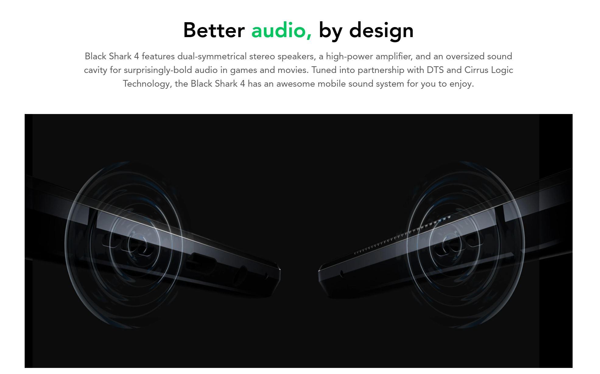 Premiera Black Shark 4 - audio DTS