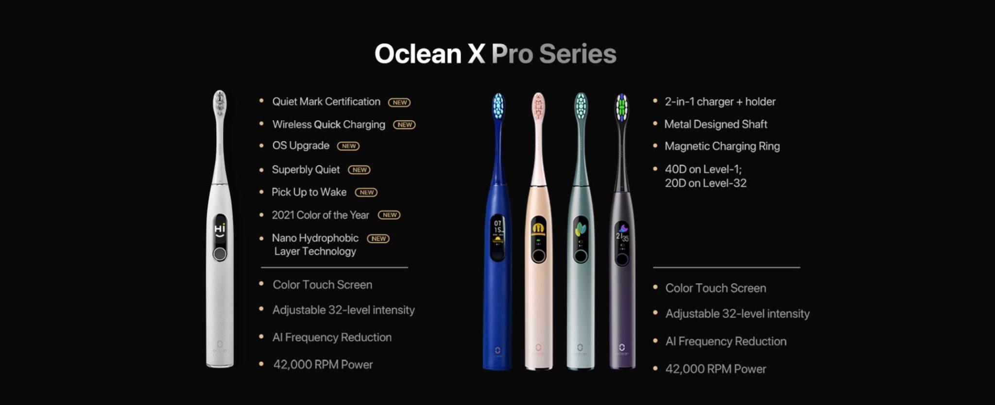 Premiera Oclean X Pro Elite - porównanie z Oclean X Pro