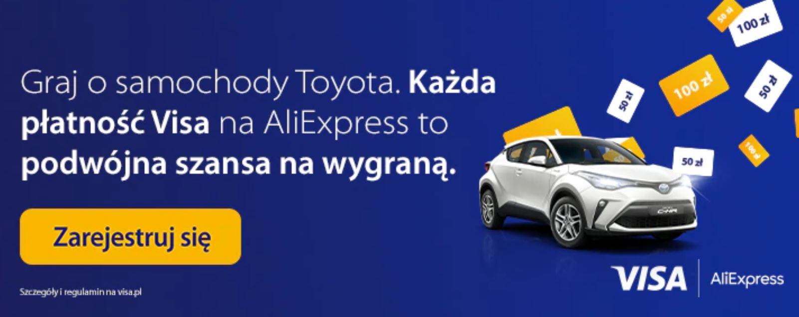 Promocja Visa i Aliexpress - wygraj Toyotę CH-R
