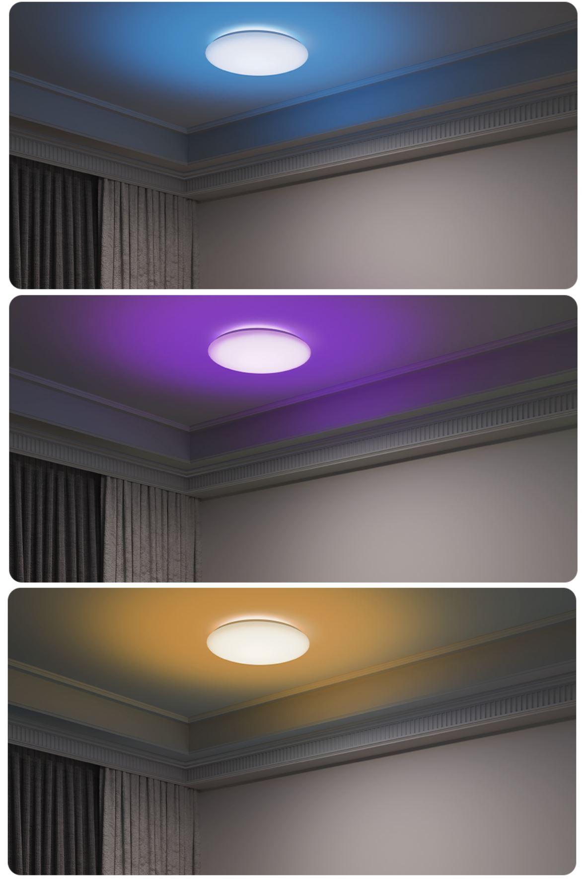 Rozświetl swój dom z Yeelight - świetna oferta na inteligentne żarówki, lampy i plafony - inteligentny plafon ledowy Yeelight Arwen - różne kolory