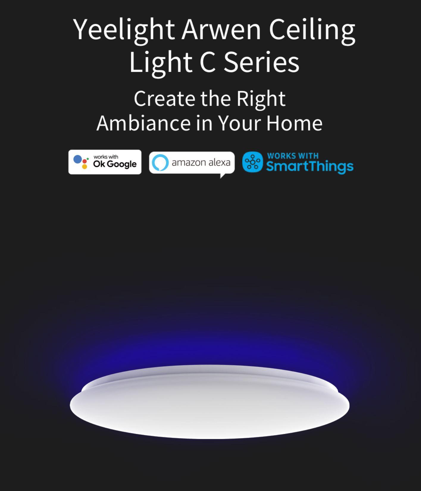 Rozświetl swój dom z Yeelight - świetna oferta na inteligentne żarówki, lampy i plafony - inteligentny plafon ledowy Yeelight Arwen