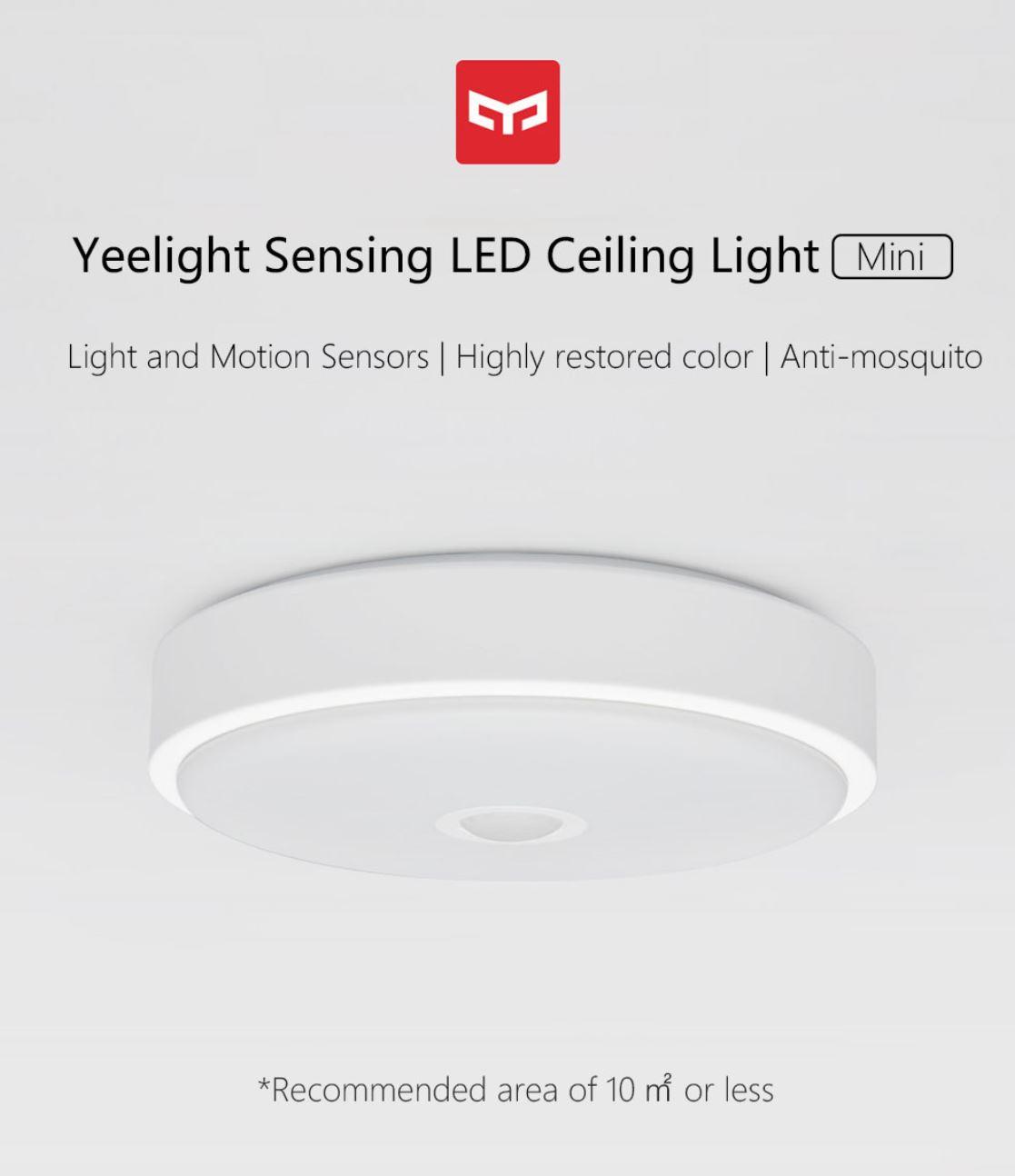 Rozświetl swój dom z Yeelight - świetna oferta na inteligentne żarówki, lampy i plafony - mini plafon z sensorem ruchu