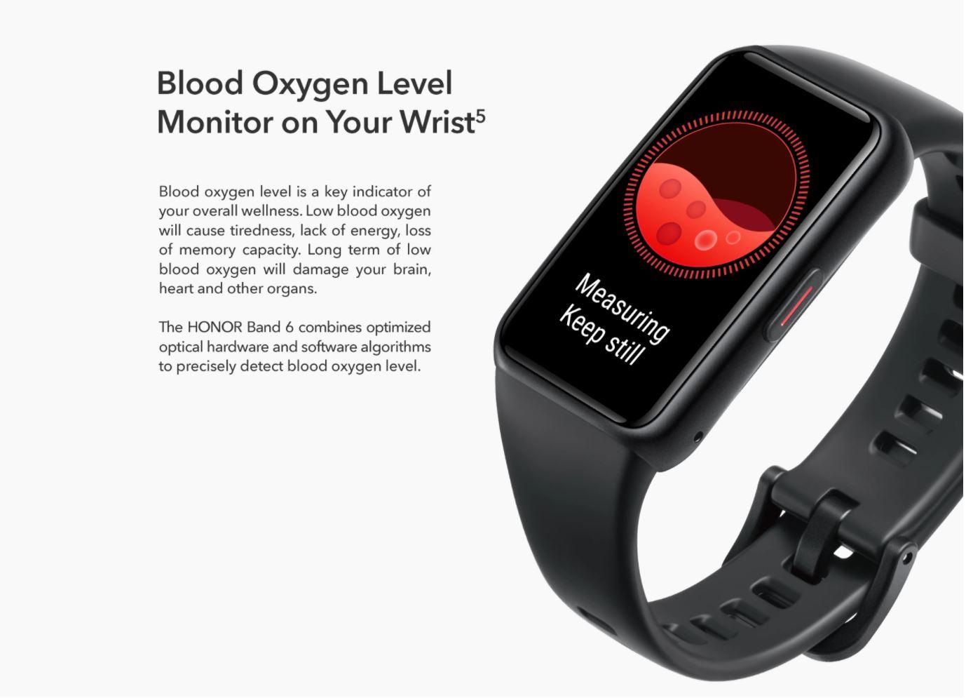 Światowa premiera Honor Band 6 na Aliexpress - pomiar saturacji krwi