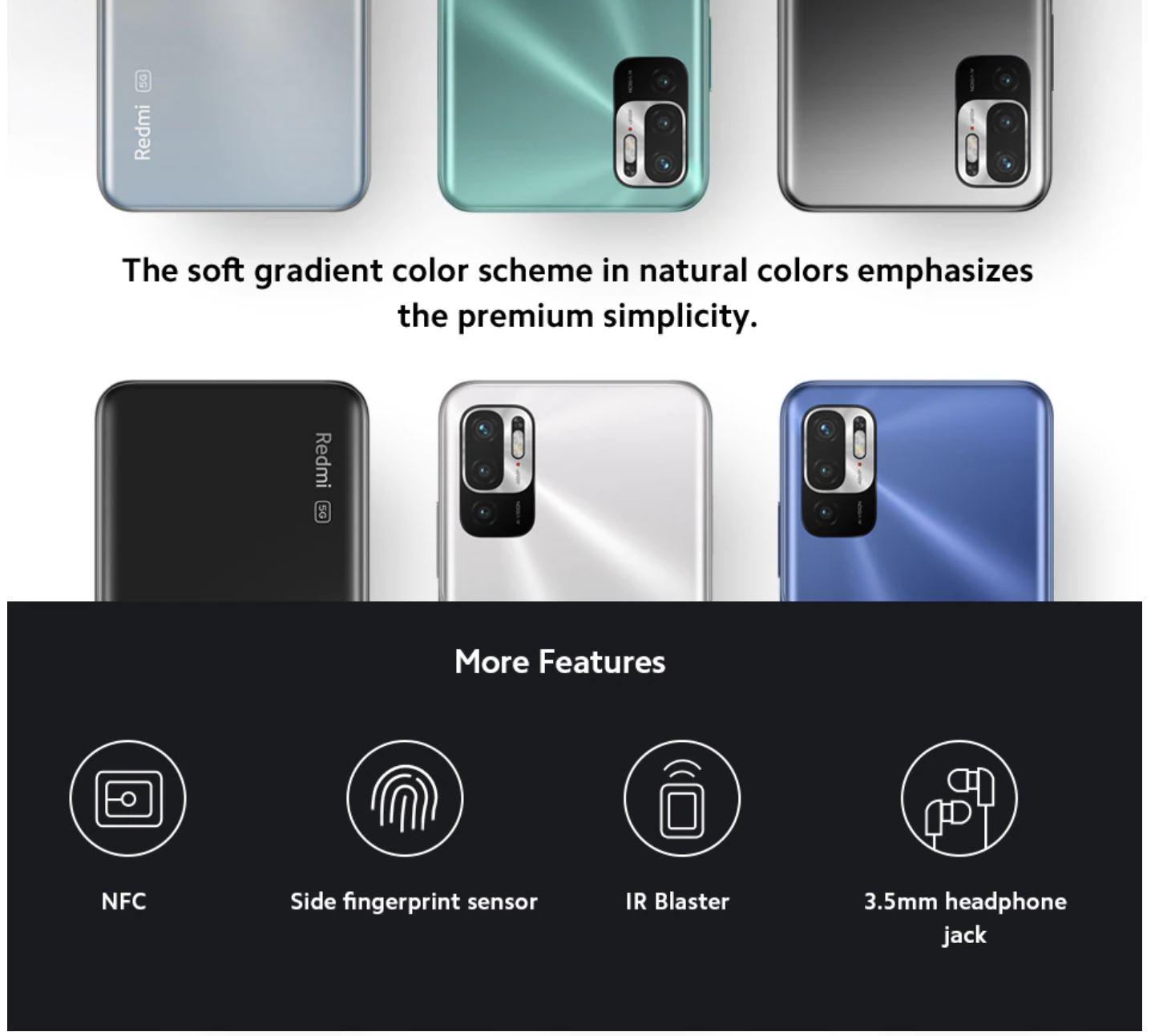 Xiaomi Redmi Note 10 5G - kolory i funkcje