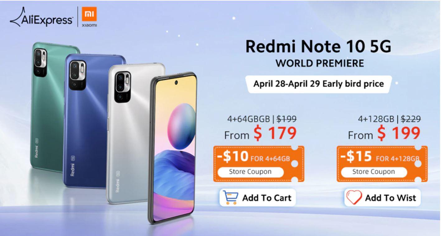 Xiaomi Redmi Note 10 i Redmi Note 10S już dostępne na Aliexpress - premiera Redmi Note 10