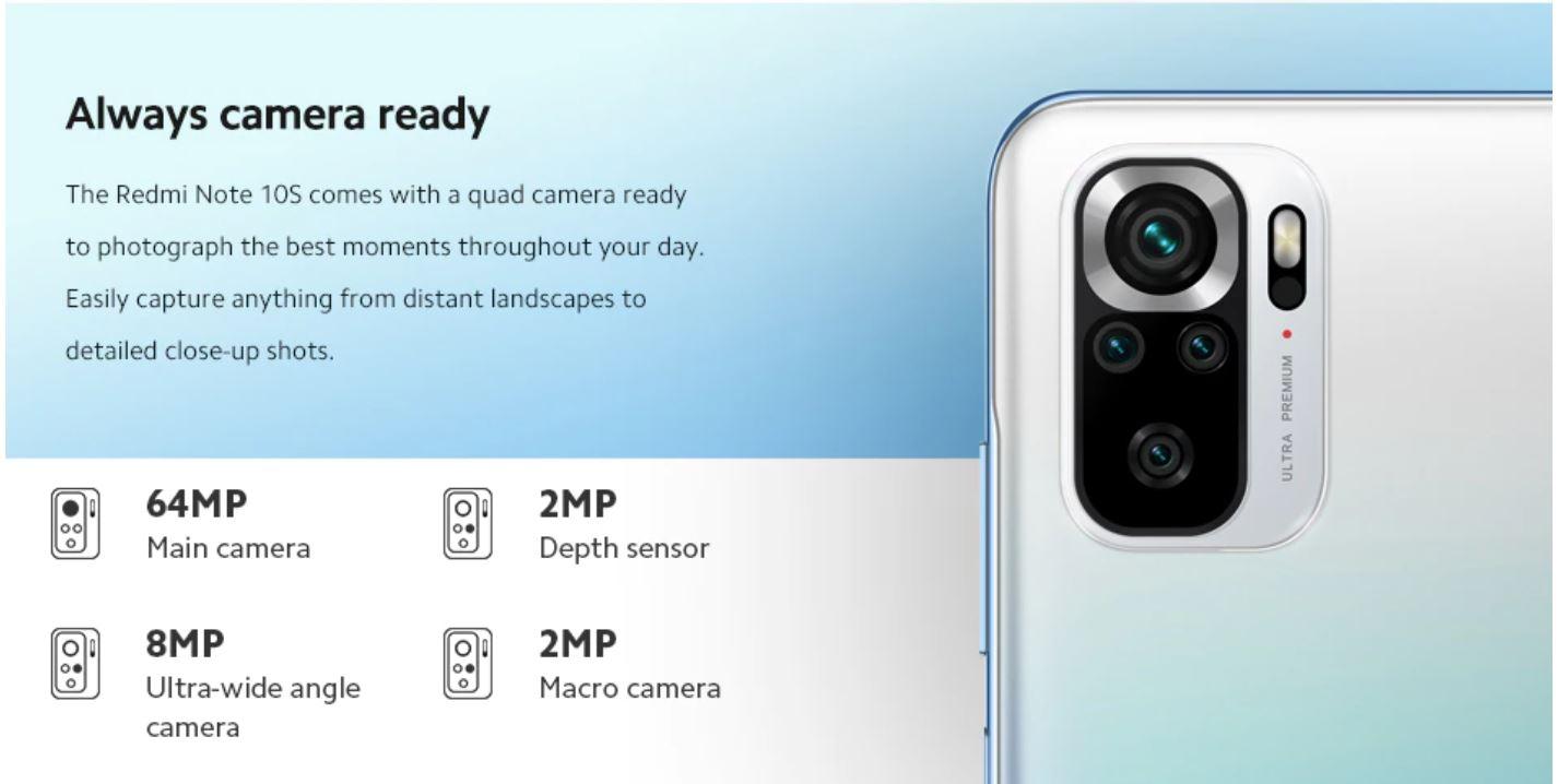 Xiaomi Redmi Note 10S - aparat fotograficzny