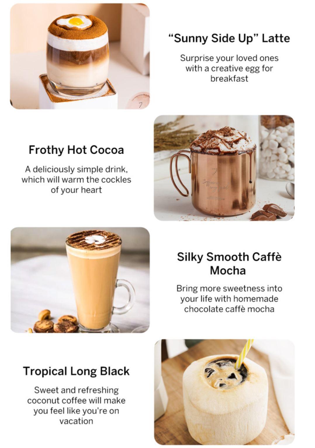 Youpin SEVEN & ME - ekspres do kawy ze spieniaczem mleka w jednym z Aliexpress - napoje kawowe