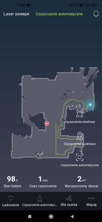 Kiano Elegance Robot - aplikacja Laser Robot - robienie mapy