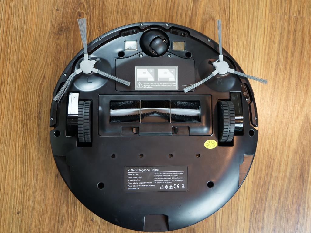 Kiano Elegance Robot - recenzja robota sprzątającego z laserową nawigacją w super cenie - spód robota