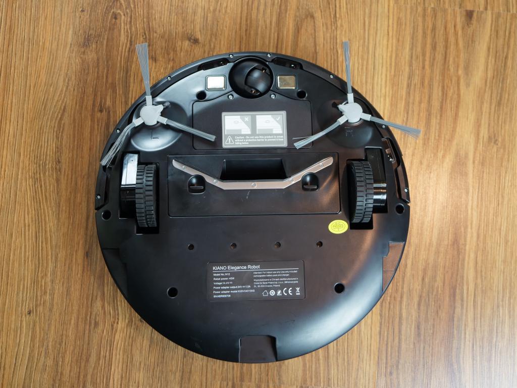 Kiano Elegance Robot - recenzja robota sprzątającego z laserową nawigacją w super cenie - ssawka