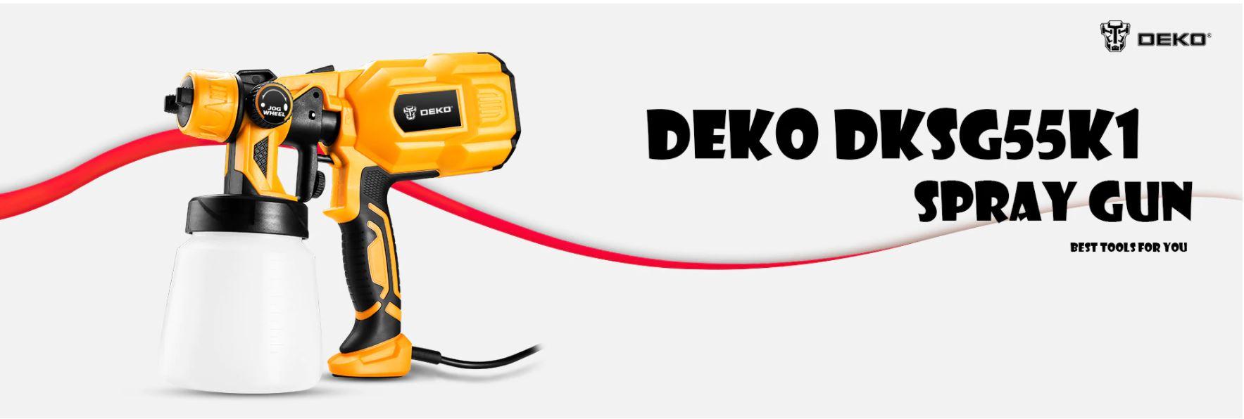 Najlepsze narzędzia z Aliexpress - promocja produktów marki DEKO - pistolet natryskowy DEKO DKSG55K1