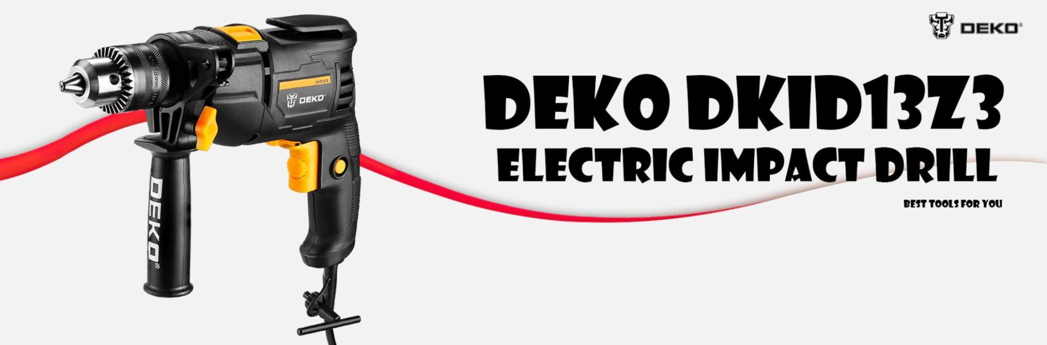 Najlepsze narzędzia z Aliexpress - promocja produktów marki DEKO - wiertarka udarowa