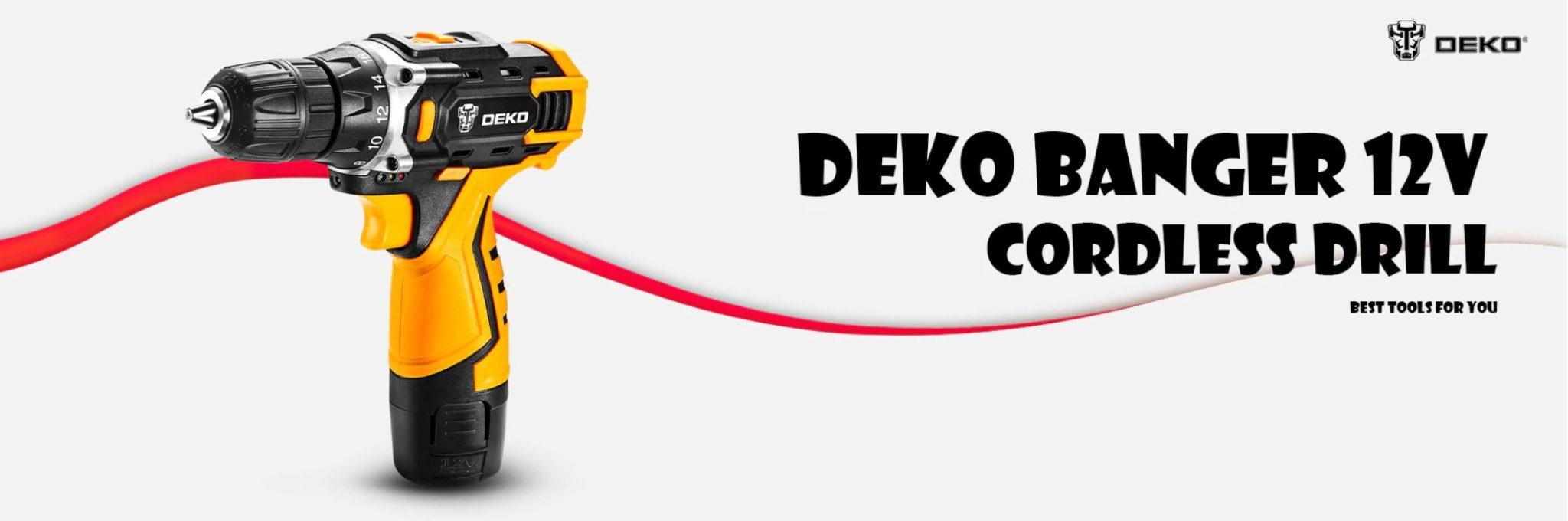 Najlepsze narzędzia z Aliexpress - promocja produktów marki DEKO - wiertarka-wkrętarka DEKO Banger