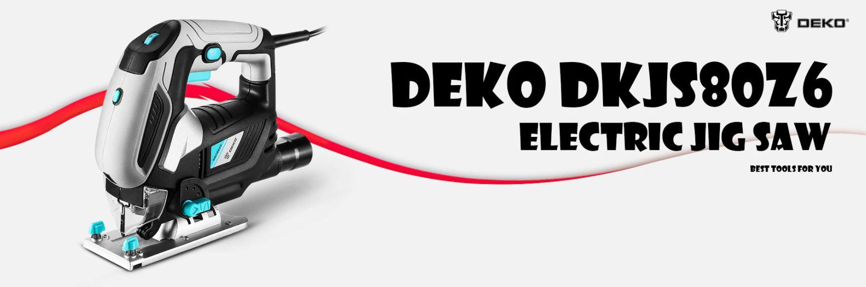 Najlepsze narzędzia z Aliexpress - promocja produktów marki DEKO - wyrzynarka DEKO DKJS80Z6
