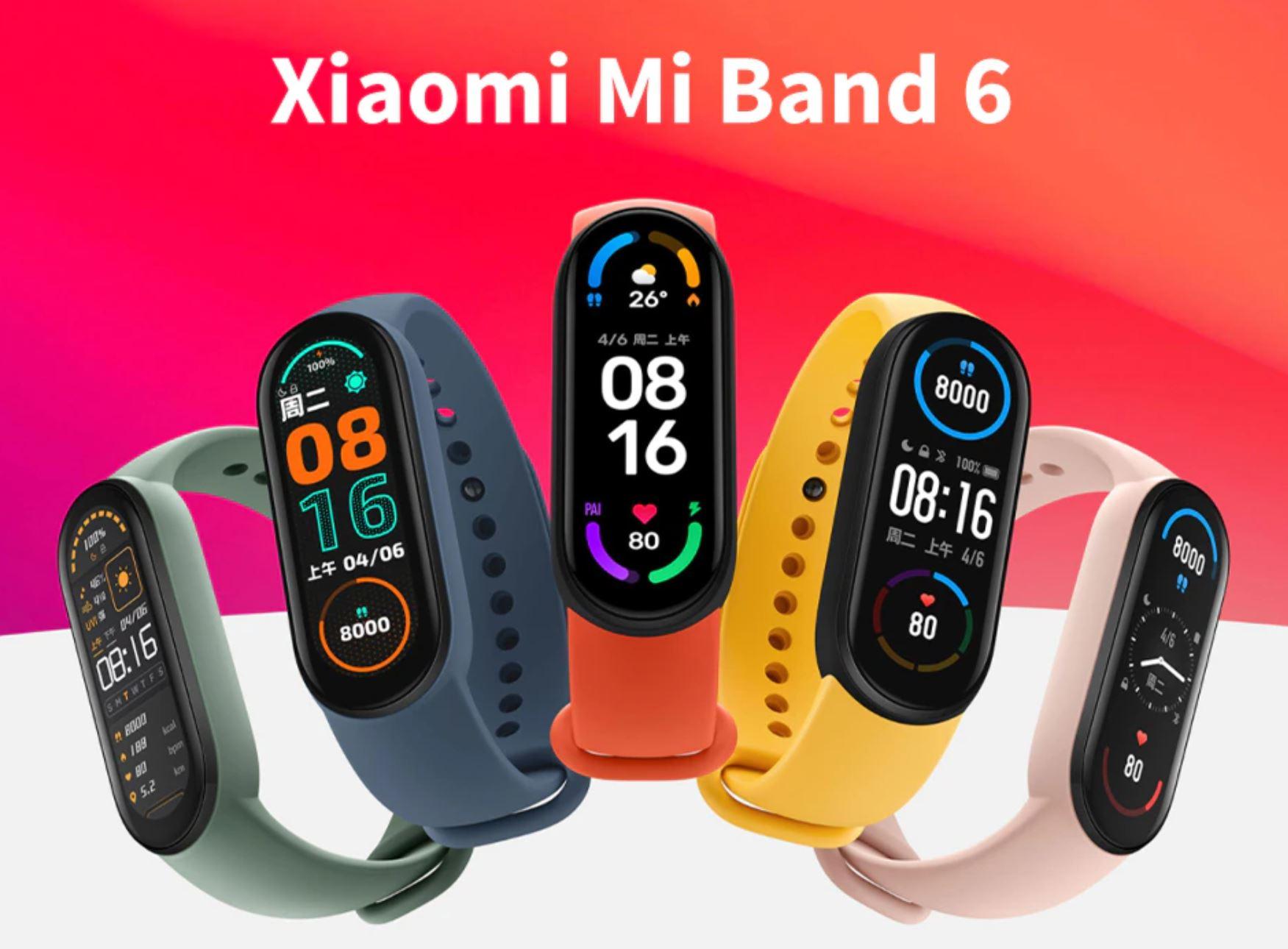 Premiera nowych opasek sportowych - czym różnią się od siebie HUAWEI, HONOR i XIAOMI Band 6 - Xiaomi Mi Band 6