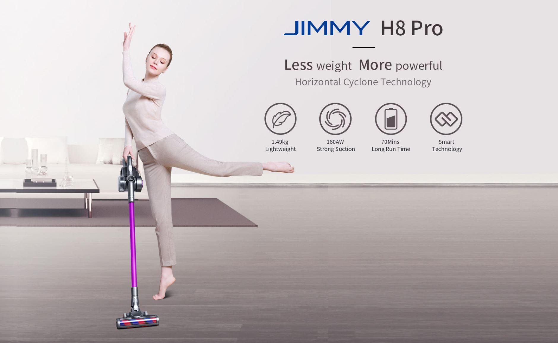 Promocja nowej serii odkurzaczy Jimmy w geekbuying.com - Jimmy H8 Pro