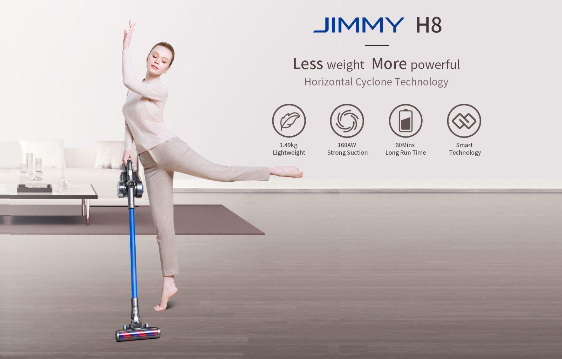Promocja nowej serii odkurzaczy Jimmy w geekbuying.com - Jimmy H8