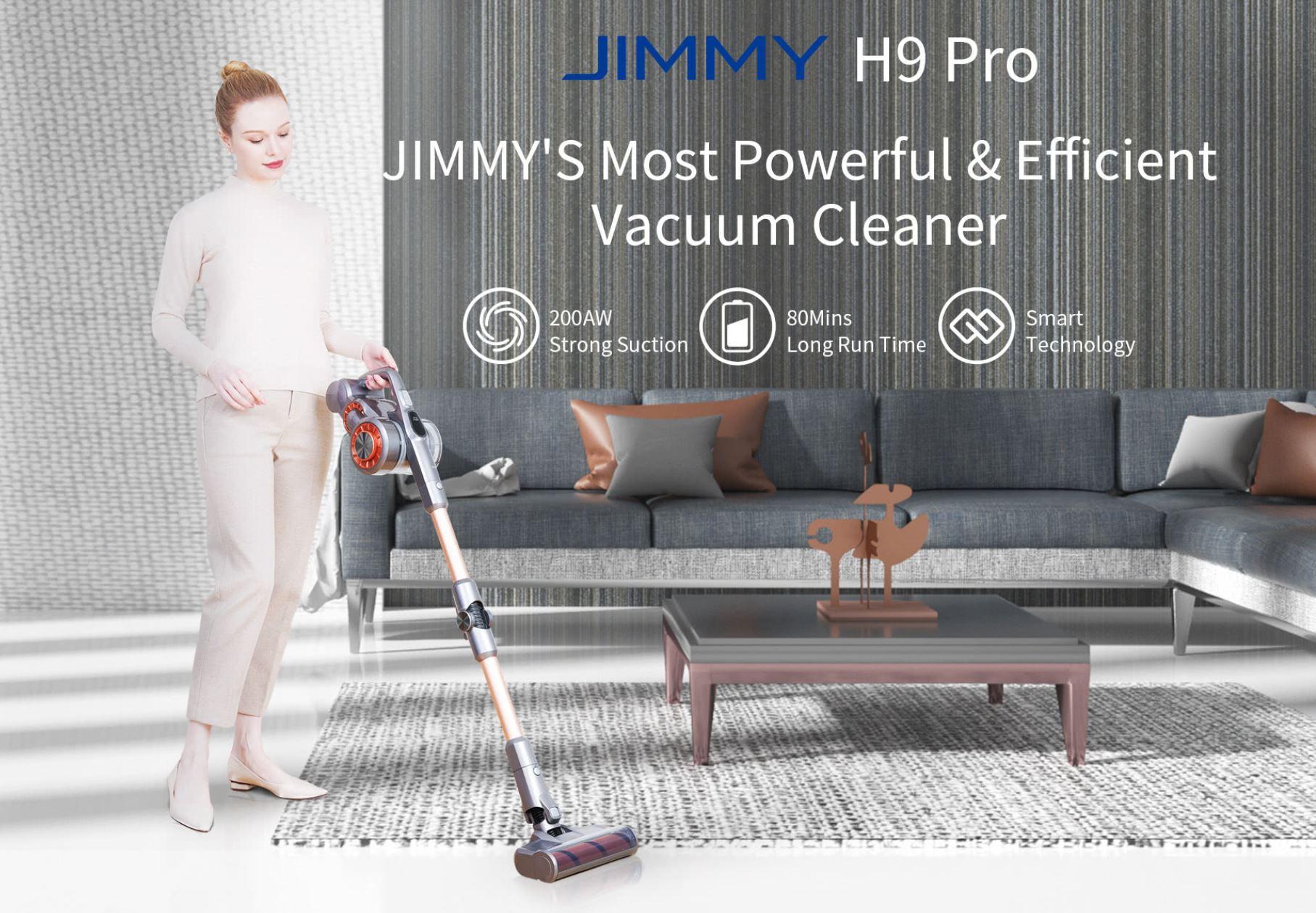 Promocja nowej serii odkurzaczy Jimmy w geekbuying.com - Jimmy H9 Pro
