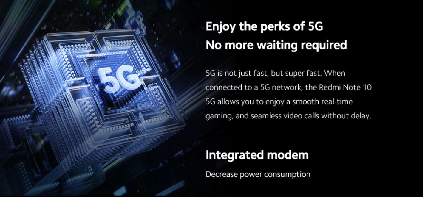 Xiaomi Redmi Note 10 5G - modem 5G