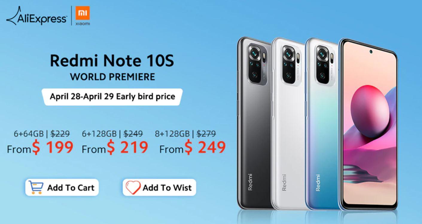 Xiaomi Redmi Note 10 i Redmi Note 10S już dostępne na Aliexpress - premiera Redmi Note 10S