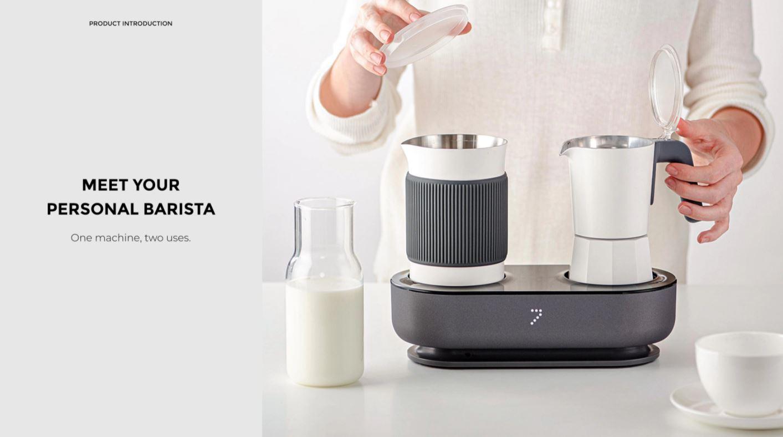 Youpin SEVEN & ME - ekspres do kawy ze spieniaczem mleka w jednym z Aliexpress - jedno urządzenie - dwie funkcje
