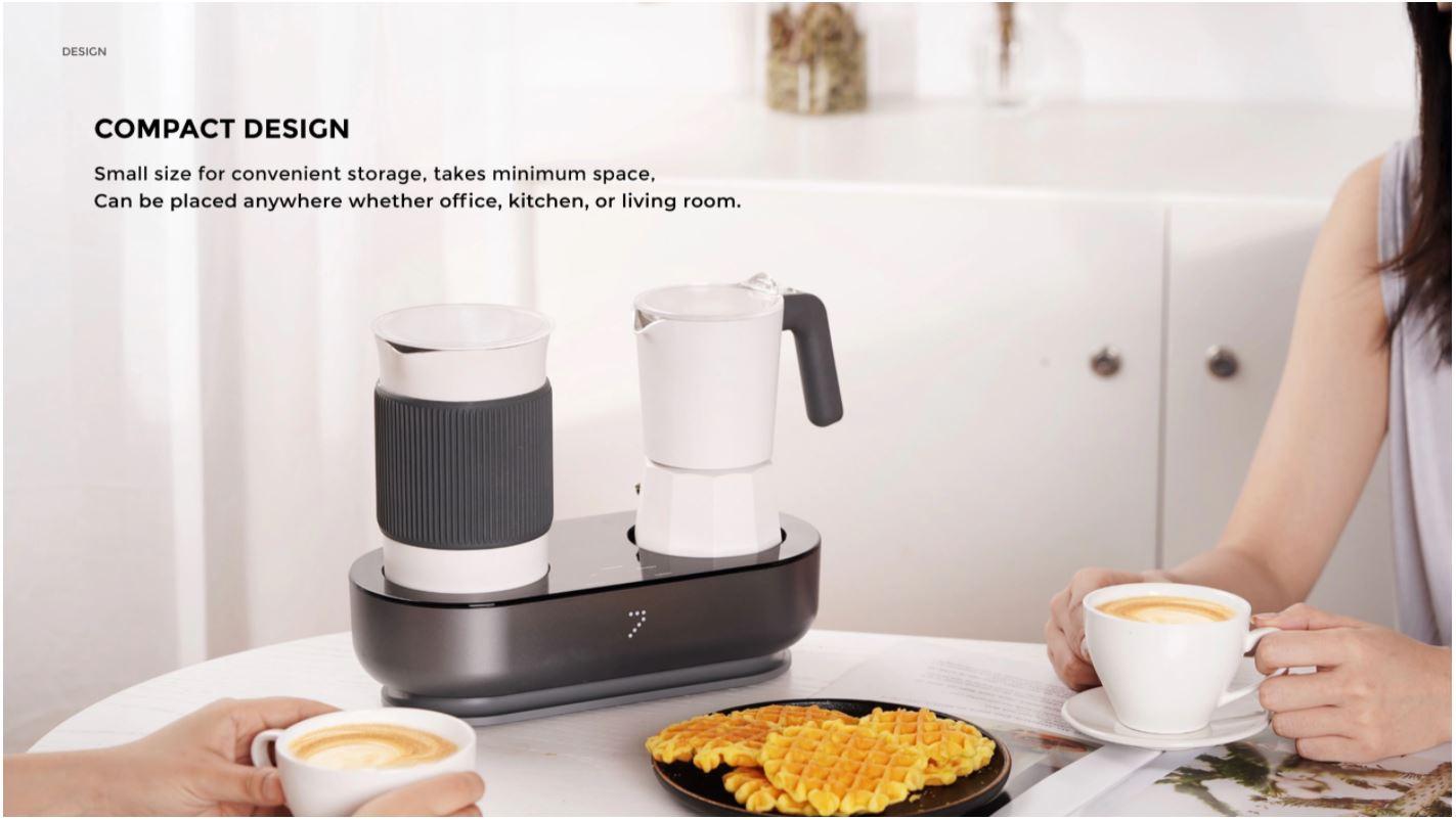 Youpin SEVEN & ME - ekspres do kawy ze spieniaczem mleka w jednym z Aliexpress - śniadanie