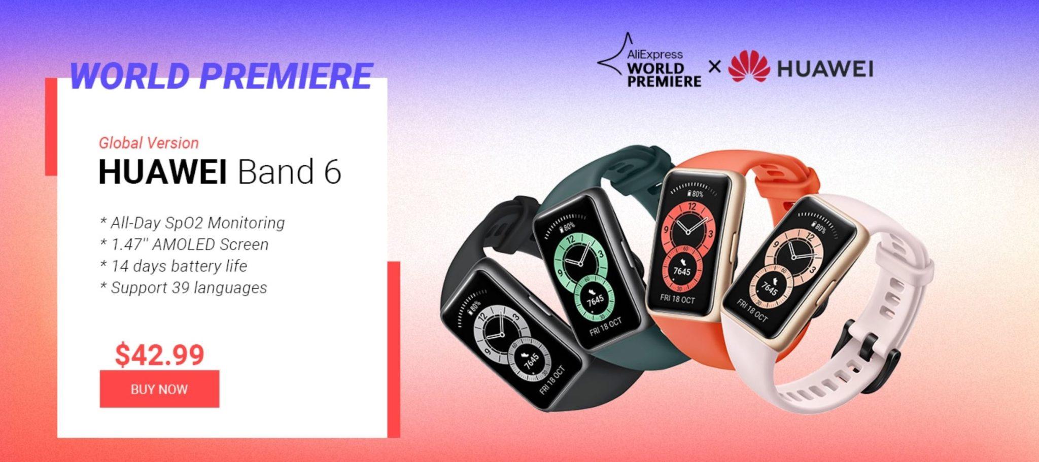 promocja Huawei Band 6 na Aliexpress