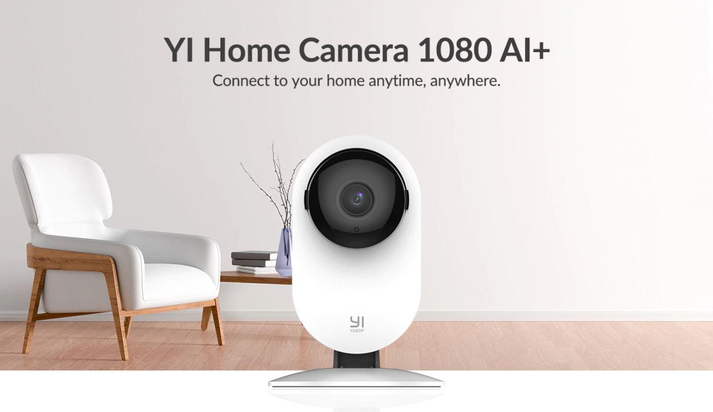 82% rabatu na najpopularniejsze kamery do monitoringu domowego marki YI - kamera YI Home Camera 1080 AI+