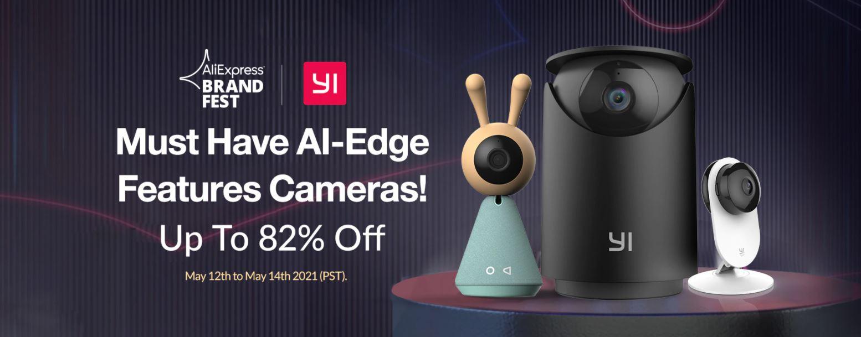 82% rabatu na najpopularniejsze kamery do monitoringu domowego marki YI - promocja kamer IP