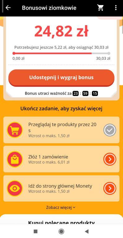 Jak zdobyć kupony Aliexpress - gry i zabawy w aplikacji na smartfony - tnij to - Bonusowi ziomkowie - zadania do realizacji