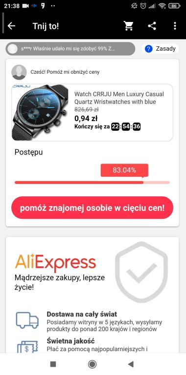Jak zdobyć kupony Aliexpress - gry i zabawy w aplikacji na smartfony - tnij to - pomoc znajomego