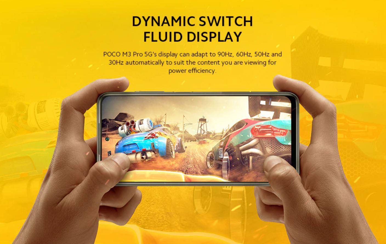 Poco M3 Pro - premiera smartfona na Aliexpress - dynamiczny ekran