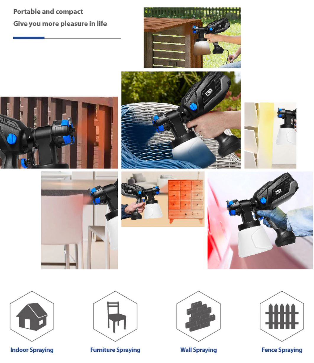 Prostormer - profesjonalne elektronarzędzia z Aliexpress - pistolet natryskowy - możliwości