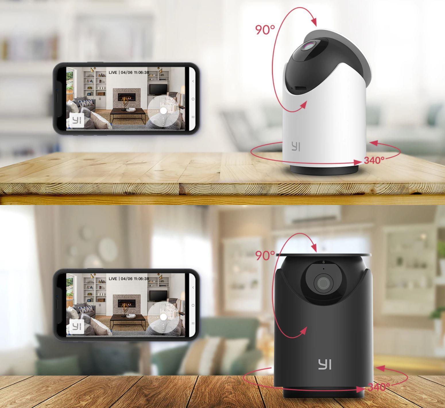 YI Dome U - nowość z Aliexpress - obracanie kamery IP