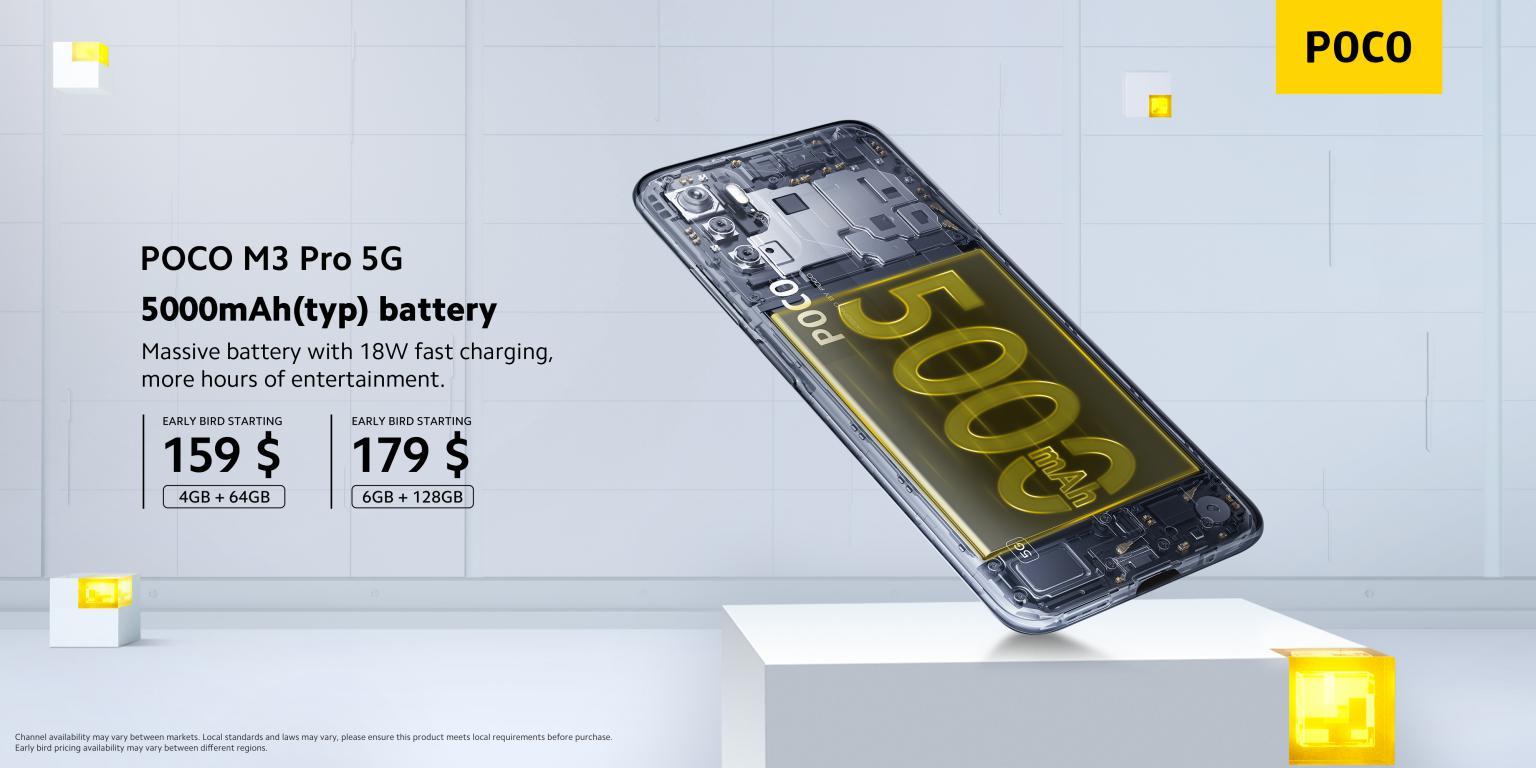 bateria smartfona POCO M3 Pro