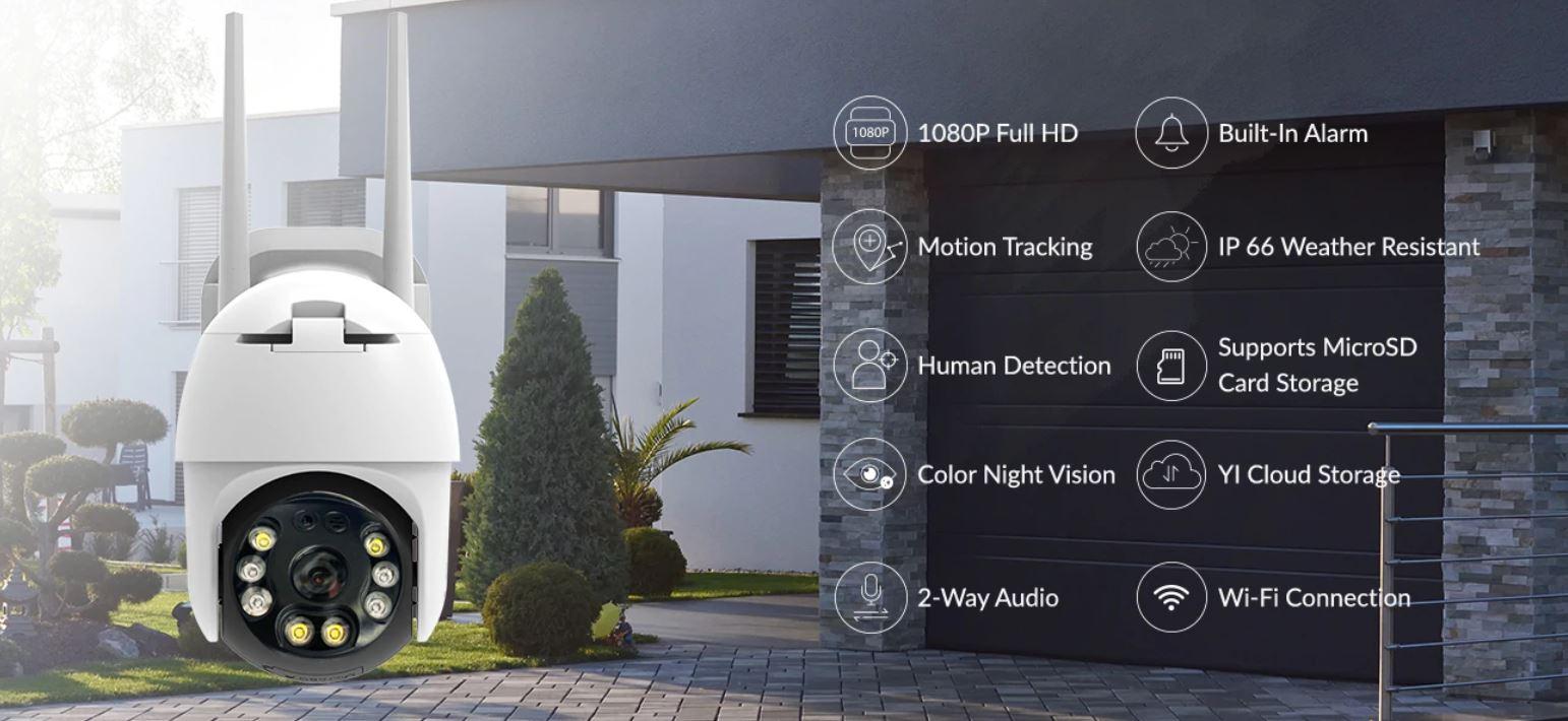 kamera zewnętrzna IP - YI PTZ 1080p - funkcje